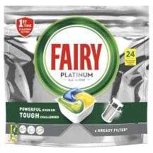 Nõudepesum.kap. FAIRY PlatinumLemon 24tk