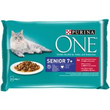 Kaķu konservi One SENIOR 4x85g