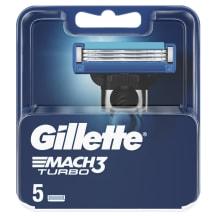 Skuvekļa Asmeņi Gillette Mach3 Turbo,5gb