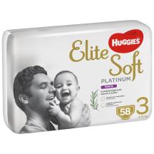 Sausk. HUGGIES ELITE PLATIN 6-10kg 58vnt