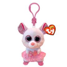 Pehmik TY Nina valge hiir võtmehoidja