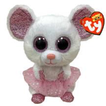 Pehmik TY Nina valge hiir 15,5cm