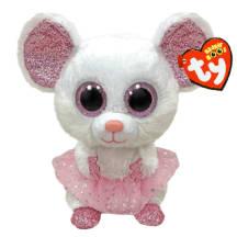 Pehmik TY Nina valge hiir 23cm