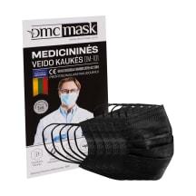 Medicininė veido kaukė DM-101, 5vnt, juoda