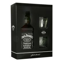 Viskis JACK DANIEL'S,dėž.su 2 stik.,40%, 0,7l