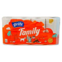 Tualetinis popierius GRITE FAMILY, 8 rit.