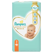 Autiņbiksītes Pampers Premium Care S3 60gb