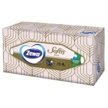 Kosmet. servetėlės ZEWA SOFTIS, 4sl., 80vnt.