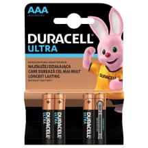 Baterijas DURACELL ULTRA ALK AAA 4 gab.