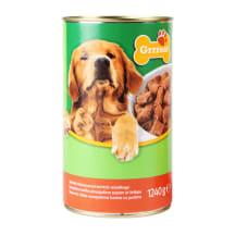 Konservi suņiem Grrreat ar liell. gaļu 1,24kg