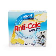 Atkaļķ. tabletes Marine veļas mašīnai 16gab.