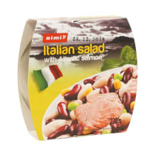 Itališkos salotos su atl. lašiša RIMI, 220 g