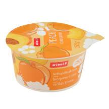 Varškės kremas su persikais RIMI, 6,1%, 150 g
