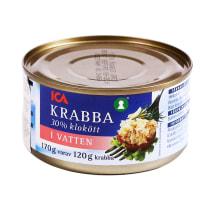 Krabai vandenyje ICA, 170 g
