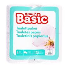 Tualetes papīrs Rimi Basic 2 slāņi, 4 ruļļi