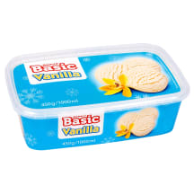 Vanilės skonio ledai RIMI BASIC, 1l / 450g