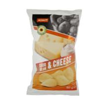 Grietinės, sūrio bulvių traškučiai RIMI, 150g