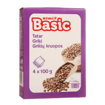 Grikių kruopos RIMI BASIC, 4 x 100g, 400g