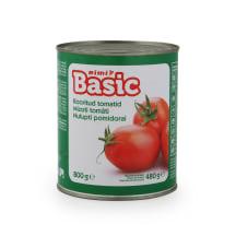 Plūmju tomāti Rimi Basic mizoti 800g
