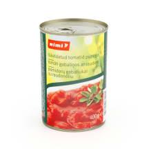 Pomidorų gabaliukai su raudonėl., RIMI, 400g