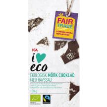 Tumšā šokolāde I Love Eco ar jūras sāli 100g