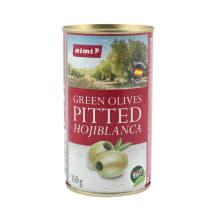 Zaļās olīvas Rimi bez kauliņiem 350g/150g