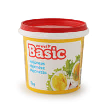 Majonezas RIMI BASIC, 18% rieb., 1 kg