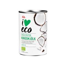 Ökoloogiline kookospiim I Love Eco 400ml