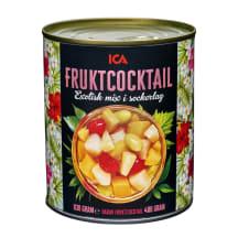 Konservuotų vaisių kokteilis ICA, 830g/480g