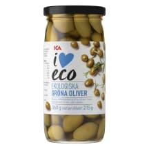 Öko rohelised oliivid I Love Eco 360g/215g