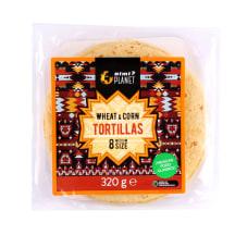 Kviet., kukur. tortilijos RIMI PLANET, 320 g