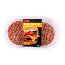 Liellopa burgera gaļa ar siera garšu