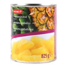 Ananassitükid siirupis Rimi 840g/500g
