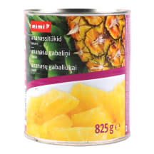 Kons. ananasų gabaliuk.sirupe RIMI, 825g/490g