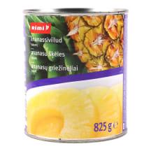 Kons. ananasų griežinėl.sirupe RIMI,825g/490g