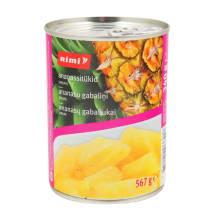 Kons. ananasų gabaliuk.sirupe RIMI, 567g/340g