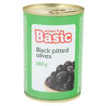 Mustad oliivid Rimi Basic kivideta 280g