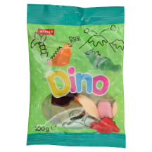 Želė saldainiai Dinozaurai RIMI, 100 g