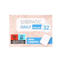 Higien. įklotai SIMPATIC kasdieniniai, 32 vnt