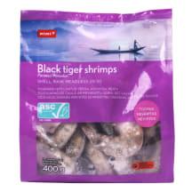 Tigrinės krevetės RIMI 26/30 ASC, 400 g