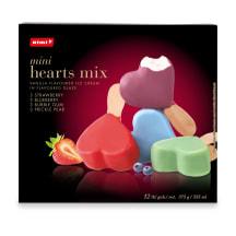 Saldējums Rimi mini hearts mix 12 gab. 375g