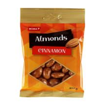 Migdolai baltame šokolade su cinam. RIMI,100g