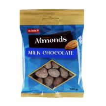 Migdolai pieniniame šokolade RIMI, 100 g