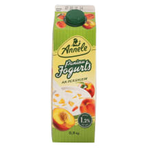 Paniņu jogurts Annele ar persikiem 1,2% 900g