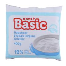 Skābais krējums Rimi Basic polipaka 12% 400g