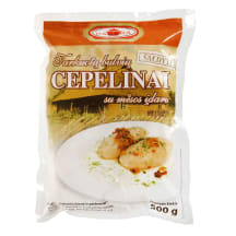 Šald. tarkuotų bulvių cepelinai su mėsa, 500g