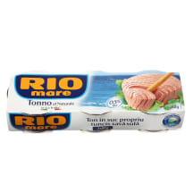 Tuno pjausnys sūryme RIO MARE, 3 x 80g