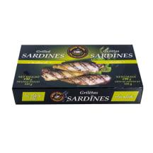 Sardīnes grilētas olīveļļā 190g/133g
