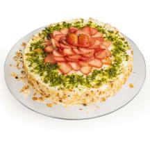 Biezpiena torte ar zemenēm 1,5kg