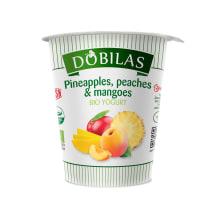 Jogurts Dobilas ar ananāsiem, mango BIO 300g